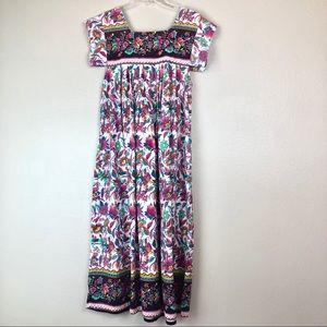 Vintage Floral Mexican Dress